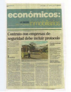 ARTICULO LA NACION CONTRATO CON EMPRESAS DE SEGURIDAD DEBE INCLUIR PROTOCOLO